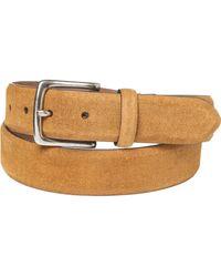Frye Feather Edge Panel Belt - Brown