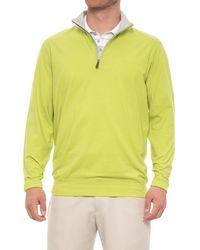 Bobby Jones Solid Liquid Cotton Pullover Shirt - Yellow
