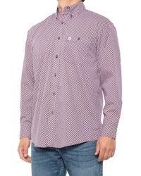 Wrangler George Strait Printed Western Shirt - Purple