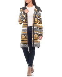 Cable & Gauge - Mixed Jacquard Coatigan (for Women) - Lyst
