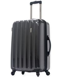 "Olympia 21"" Titan Hardside Expandable Carry-on Spinner Suitcase - Black"