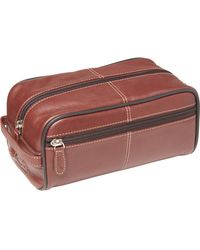Buxton Country Saddle Soft-sided Toiletry Bag - Brown