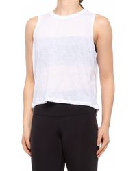 90 Degrees - High-low Muscle Tank Top - Lyst