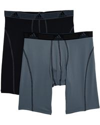adidas Men's 2-pk. Climalite Performance Midway Briefs - Gray