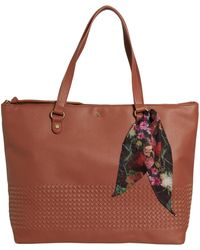 Elliott Lucca Large Waverly Shopping Tote Bag - Brown