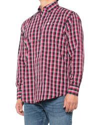 Wrangler Classic Plaid Western Shirt - Red