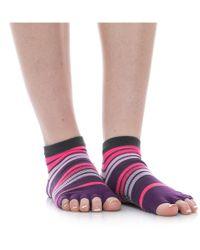 Gaiam Toeless Yoga Socks - Pink