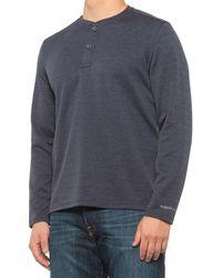 G.H. Bass & Co. Jacquard Diamond-quilted Henley Shirt - Blue
