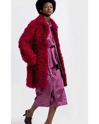 Sies Marjan Ripley Shearling Coat - Red