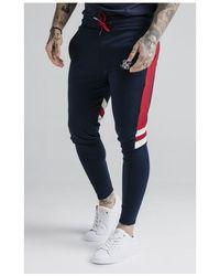 SIKSILK Retro Panel Track Trousers - Blue