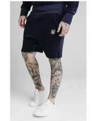 SIKSILK Allure Corduroy Shorts - Blue