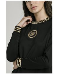 SIKSILK Luxury Poly Sweatshirt - Black