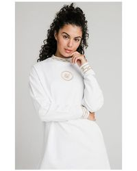 SIKSILK Luxury Sweatshirt Dress - White