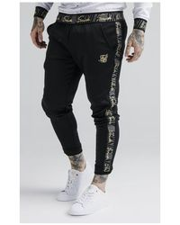 SIKSILK Fitted Cuffed Jogger - Black