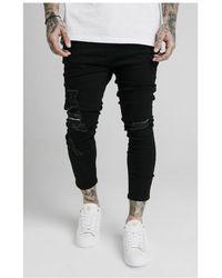 SIKSILK Ultra Drop Crotch Denims - Black