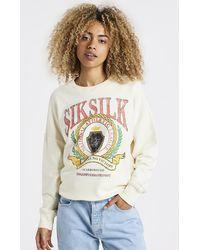 SIKSILK Varsity Oversize Sweatshirt - Multicolour