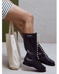 Ilse Jacobsen Long Lace-up Rain Boots (women, Black, 36)