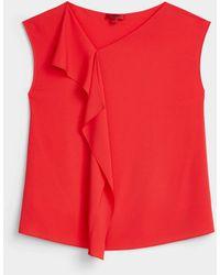 HUGO Flamboyant Red Draped Blouse