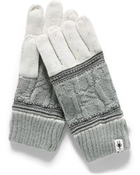 Smartwool Cable And Jacquard Merino Gloves - Metallic