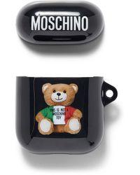 Moschino Italian Teddy Earphone Case - Black