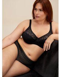Chantelle Norah Plunge Bra Plus Size - Black