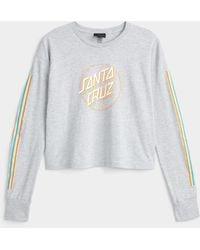 Santa Cruz Retro Logos T - Gray
