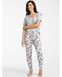 Danskin Golden Message Pyjama Set - Grey