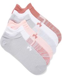Under Armour Essential Invisible Ped Socks Set Of 6 - Multicolor