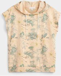 Pj Salvage Hawaiian Flora Hooded Sweatshirt - Natural