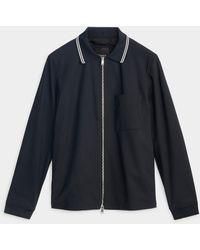 Theory - Norwalk Striped Knit Collar Jacket - Lyst