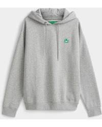 Benetton Colourful Hoodie - Grey