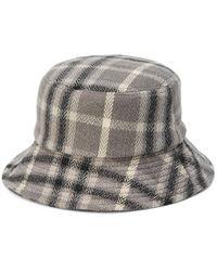 Vero Moda Plaid Bucket Hat - Black