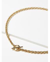 Orelia Cord Link Necklace - Multicolour