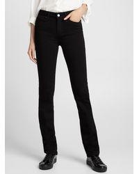 PAIGE Black Hoxton Straight Jean