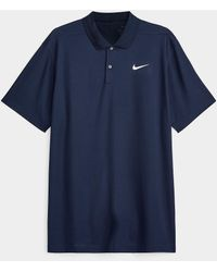 Nike Victory Fine Piqué Jersey Polo - Blue