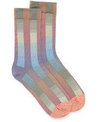 Bonne Maison Multico Checks Sock - Multicolor