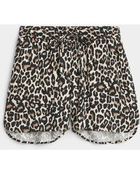 Vero Moda Eco-friendly Viscose Leopard Short (women, Brown, Large)