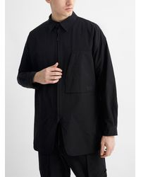 Y-3 Ripstop Fabric Lightweight Overshirt (men, Black, Large)