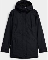Columbia Splash A Little Hooded Raincoat Long Fit - Black