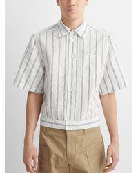 Lanvin Pinstripe Jacket Shirt - Blue