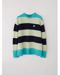 Acne Studios Oversized Striped Sweater multi Turquoise - Blue