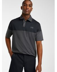 Under Armour Ultra-soft Two-tone Polo (men, Gray, Large)