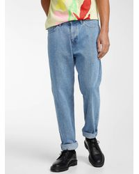 Obey Bender Worker Jean Loose Tapered Fit - Blue