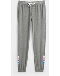 Pj Salvage Rainbow Accent sweatpants - Grey