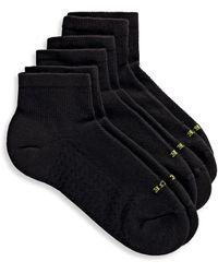 Hue Air Ankle Socks Set Of 3 - Black