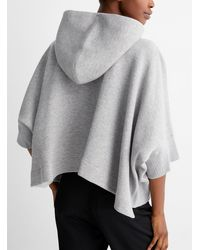 Sacai Hooded Loose Sweatshirt - Grey