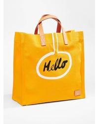 Paul Smith Hello Goodbye Tote - Yellow