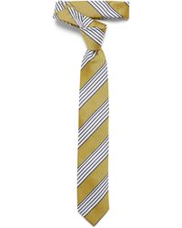 Ben Sherman Block Stripe Tie - Yellow