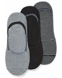 Sperry Top-Sider Nautical Ped Socks 3 - Black