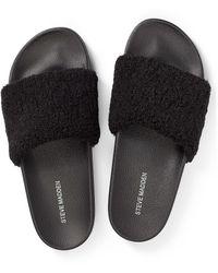 Steve Madden Shear Slide Slippers - Black